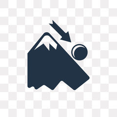 Downhill vector icon isolated on transparent background, Downhill  transparency concept can be used web and mobile
