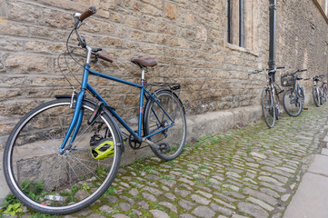 Classic vintage retro city bicycle in Oxford, England.