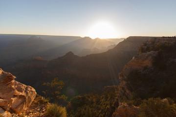 Sunrise over Grand Canyon north rim