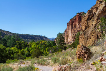 Valley at Bandelier National Monument in New Mexico
