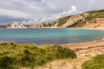 Worbarrow Bay in Dorset is some 20 minutes walk from Tyneham Village - the village was evacuated in 1943 to allow the army to practice for the D Day landings