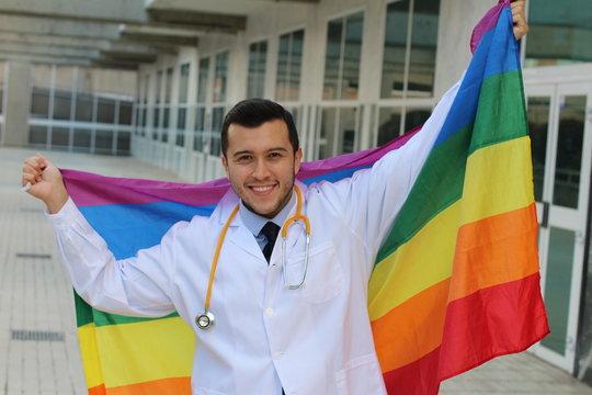 Expert in gay health raising the rainbow flag