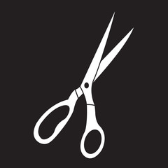 Vector icon scissors. Scissors logo.