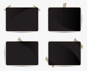 set of blank photo frames
