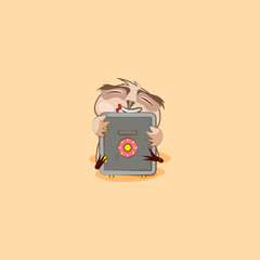 owl sticker emoticon hugs safe with money