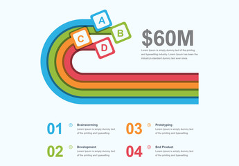 Infographic Layout with Multicolored Loop Element