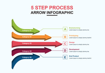 Infographic Layout with Arrow Elements