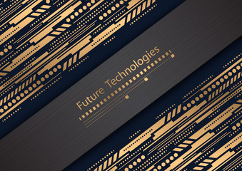 Future technologies .Innovative ideas .Geometric vector , background .Business card