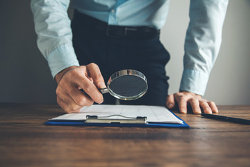 hand magnifier with document