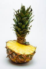 fresh pineapple on a light background