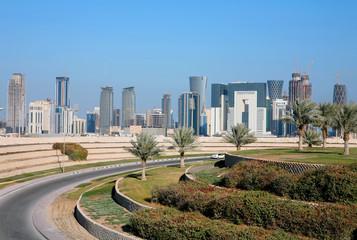 Photo Blinds Palm tree Doha skyline