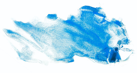 Watercolor stain blue