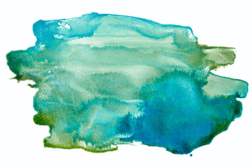 Watercolor stain green