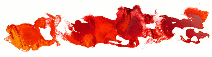 Watercolor stain red