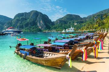 Wall Mural - Harbor on Ton Sai Bay,  Phi Phi Islands,  Andaman Sea, Thailand
