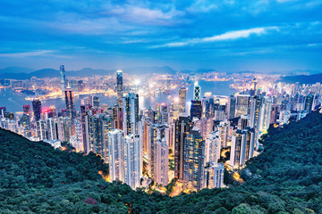 View of the downtown of Hong Kong.