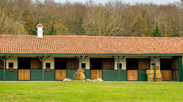 Horse stables empty