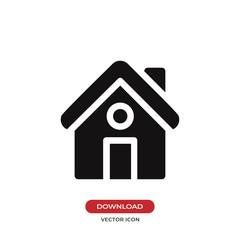 Home icon vector. House symbol.
