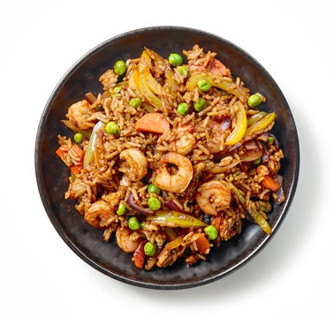 plate of asian food