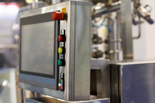industrial control panel with a touch screen