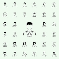 businessmen icon. Proffecions icons universal set for web and mobile