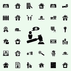 auction house for sale icon. Real estate icons universal set for web and mobile