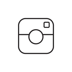 Digital camera outline icon vector. Digital camera outline sign outline on white background. Flat style for graphic design, logo, Web, UI, mobile app, EPS10