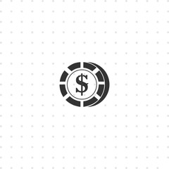 Casino chip isolated icon