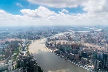 Fotomurales - aerial view of shanghai cityscape