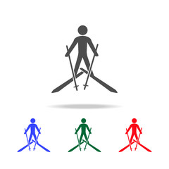 Skiing  icons. Elements of sport element in multi colored icons. Premium quality graphic design icon. Simple icon for websites, web design, mobile app, info graphics