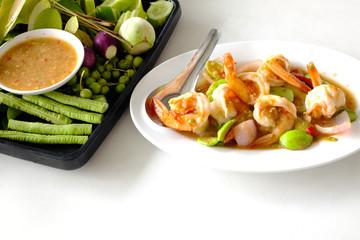 Stir Fried Prawn with Vegetable