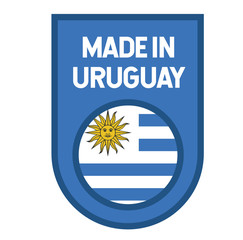 Made in Uruguay label on white