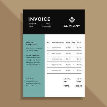 simple invoice template design
