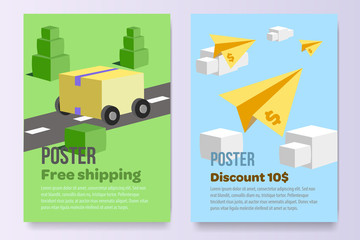 posters set promotion A4 paper afisha sell stock