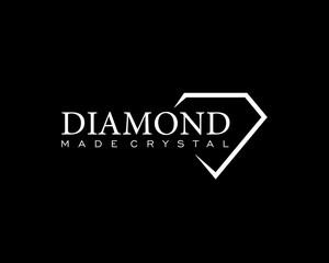 Diamond Clean Line Logo Template