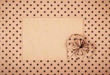 Heart origami. Paper heart. Romantic message. Romantic letter. Copy space