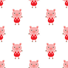 Pig background pattern