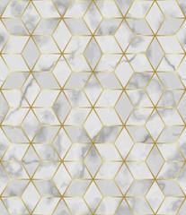 Fototapeta Luxury Marble Mosaic Star Tile Seamless Pattern obraz