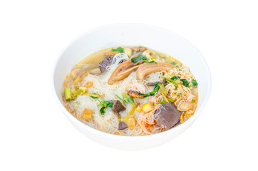 background, white, instant, soup, ramen, noodles, isolated, food, bowl, green, noodle, traditional, hot, meal, asian, asia, lunch, cuisine, sauce, cooked, japanese, egg, closeup, healthy, yellow, tast