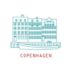 Copenhagen Denmark, Nordic capital. Old european city