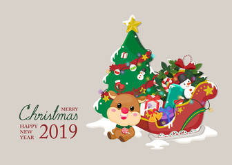 Festive Greeting card. Christmas and New year template for invitation card. Christmas and New year Background.