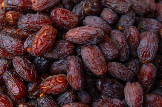 Dried dates fruits texture