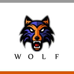 Growling wolf logo