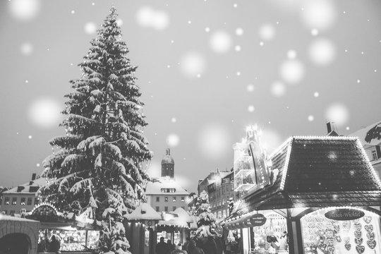 Strahlender Weihnachtsmarkt