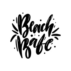 Beach Babe hand drawn vector lettering. Isolated on white background.