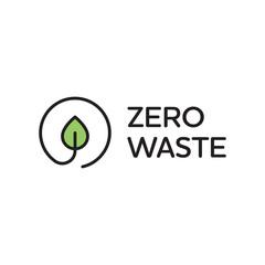 Vector Zero Waste Logo Design