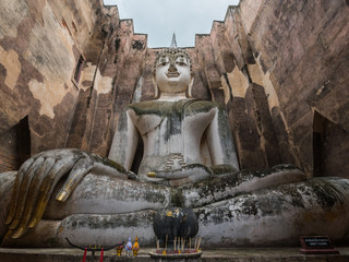 Sukhothai historical Park, Wat Si Chum (temple) in Sukhothai historical park, Sukhothai, Thailand.