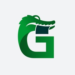 lLetter G Crocodile Bite Money