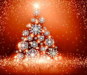 Christmas red tree