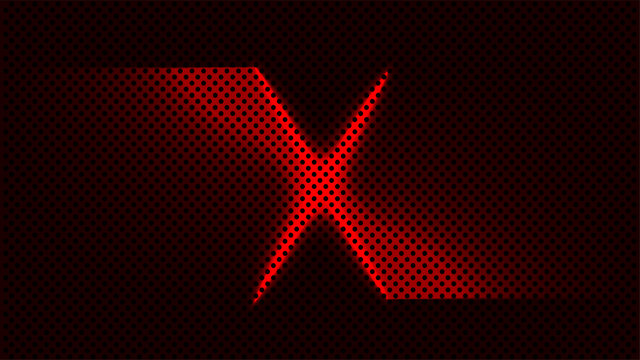 red x target mark abstract